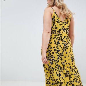 ASOS Curve Leopard Pephem Midi Dress